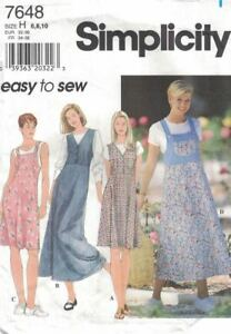 Misses-Jumper-with-Flared-Skirt-Simplicity-7648-Easy-to-Sew-Sizes-6-10