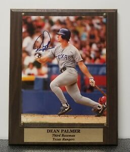 Dean Palmer Signed Autographed/ Verify 8X10 Photo on Plaque with Certificate