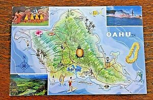 Vintage-Postcard-Hawaiian-Island-Oahu-Honolulu-Large-Unposted-Kodachrome-Roberts