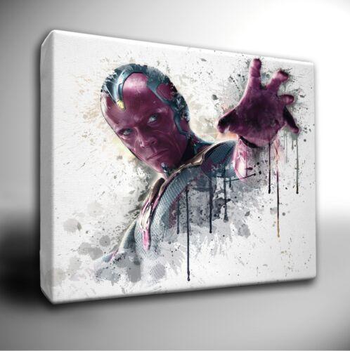DC Characters paint splatter LARGE Canvas Art Picture Prints Marvel Avengers