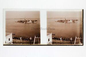 Venezia Italia Foto Amateur Placca Da Lente N5 Stereo Ca 1920