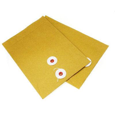"LOT 5""x7"" 5X7 Shipping Mailer Bag Brown Envelope Kraft String-Tie Closure Clasp"