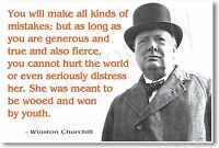 Winston Churchill - you Will Makes All Kinds Of Mistakes... Famous Poster