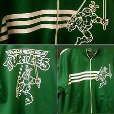 TMNT Teenage Mutant Ninja Turtles Green Track Jacket Full Zip Mens Size Medium