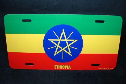 Äthiopien Flagge Neuheit Kennzeichen für Autos የኢትዮጵያ ሰንድቅ የሰሌዳ