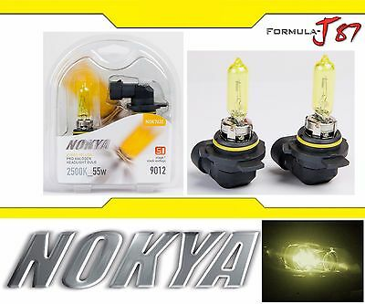 Nokya 2500K Yellow 9006 HB4 Nok7610 55W Two Bulbs Head Light Lamp Replacement OE