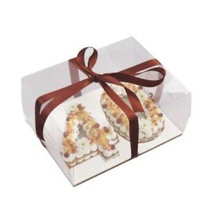 6-034-Double-number-Clear-Cake-boxes-and-pie-Bakery-boxes-pack-of-2