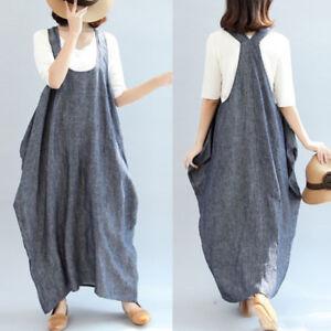 Women-Summer-Sleeveless-Kaftan-Plus-Size-Sundress-Party-Beach-Long-Maxi-Dress