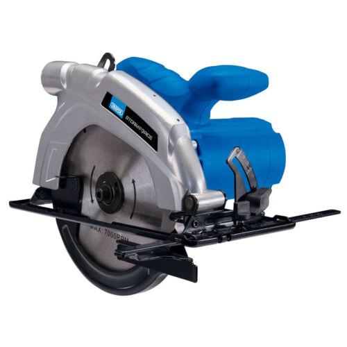 Draper 1200 W 185 mm Scie Circulaire /& TCT Lame 56786 4800 tr//min 2 an de garantie