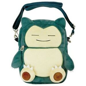 Pokemon 10'' Snorlax Shoulder Bag with Clear Pouch Anime Manga NEW