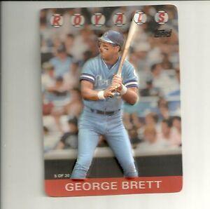 Details About 1986 Topps Baseball Stars In 3d 30 Card Set Pete Rose George Brett