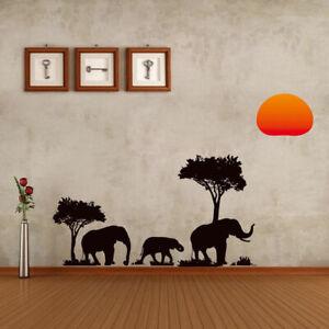 Deko-Afrika-Vogel-Natur-Wandsticker-Wandtattoo-Aufkleber-Wohnzimmer-Sticker