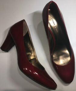Women-039-s-Etienne-Aigner-HAVEN-Classic-Pumps-Ruby-Red-Crystalline-Size-7-5-M-NWOB