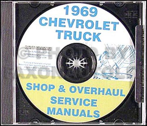 1969 Chevrolet Truck Shop Manual CD Pickup Suburban Van Chevy Fleetside Stepside
