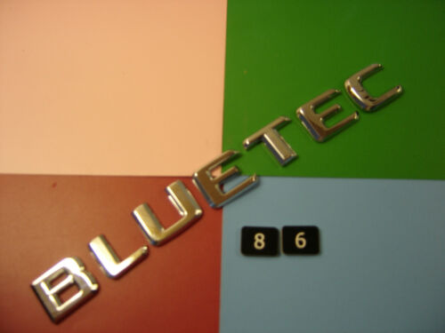 19mm De Alto Genuine Mercedes Benz Bluetec Cromo Plástico Trasero Insignia Emblema
