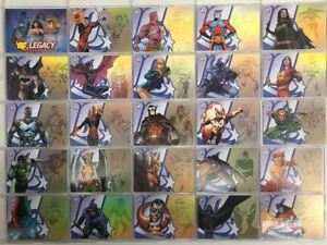 DC-Legacy-Gold-Parallel-50-Card-Set-DC-Comics-Batman-Superman
