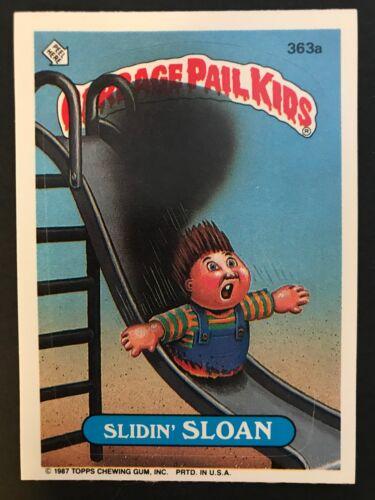 Garbage Pail Kids GPK Original Series 9 #363a Slidin/' SLOAN Mint-NrMint