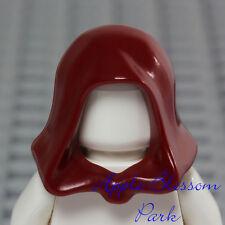 NEW Lego Minifig DARK RED HOOD - Star Wars Jedi Hat - Castle Kingdoms Head Gear
