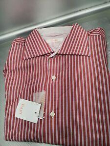 Camicia-slim-blu-a-righe-rosse-Faliti-1956-Tg-41