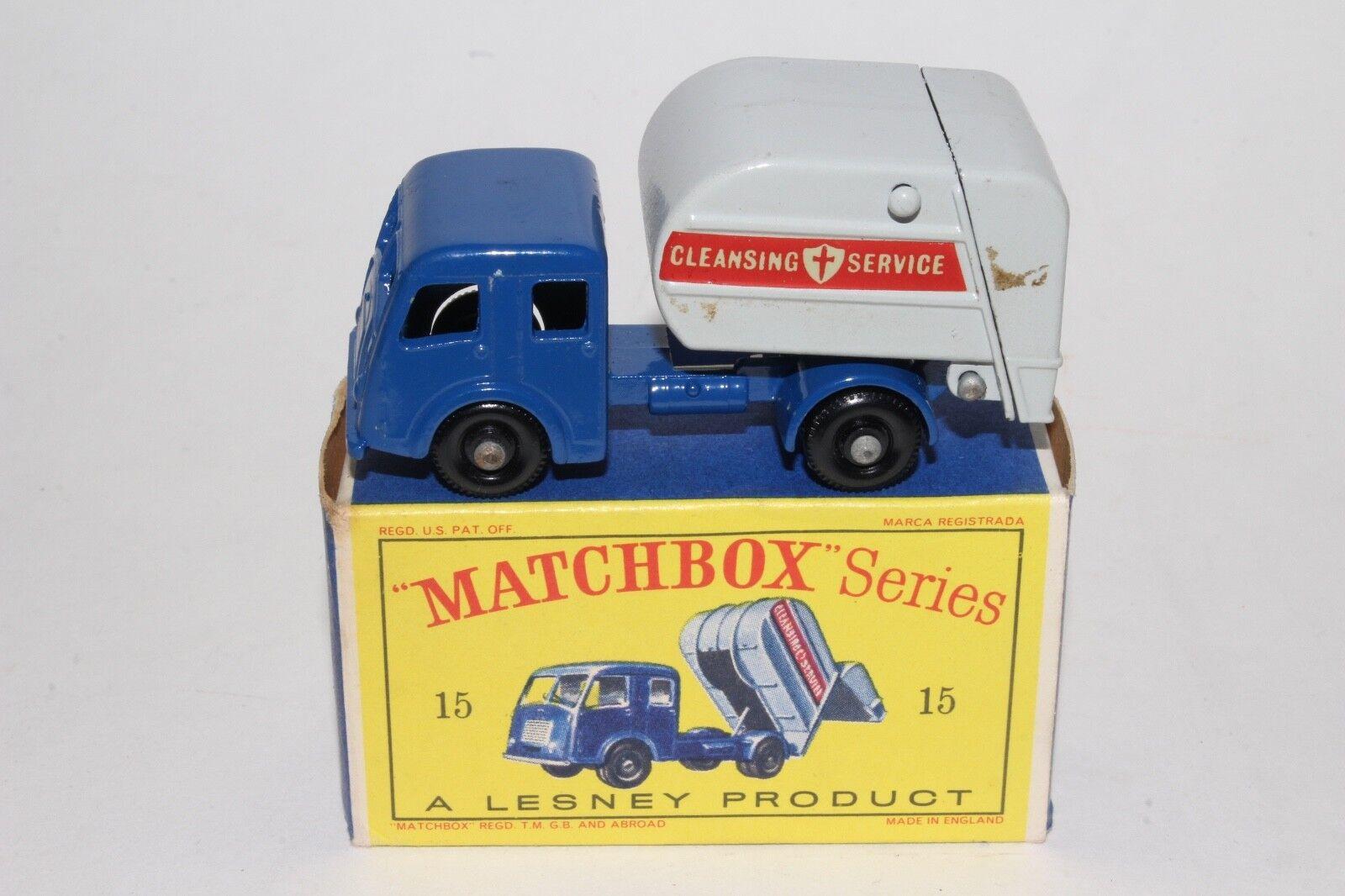 ventas de salida Matchbox Lesney  15C Dennise niegan niegan niegan camión de basura, agradable, En Caja Tipo D  muchas sorpresas