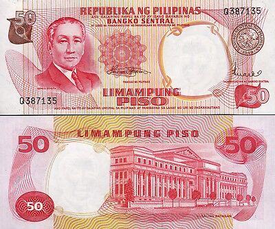 Consecutive UNC Sign 8 P-146b Philippines 50 Piso Pesos 20 Pcs Lot 1969