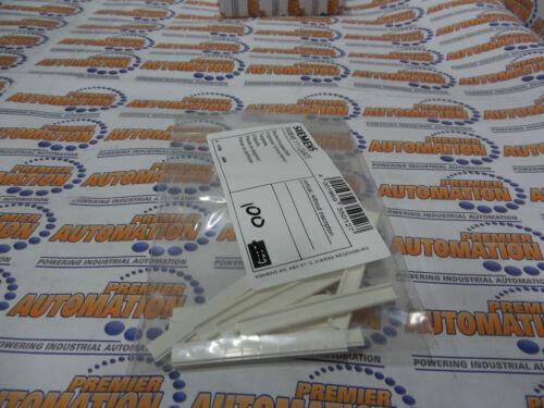 SIEMENS LABEL STRIP 100//pkg BLANK 5.2MM WIDE FLAT 8WH8111-2AA05