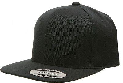 6089M Flexfit Classic Snapback Snap Back Baseball Blank Plain Hat Cap Yupoong