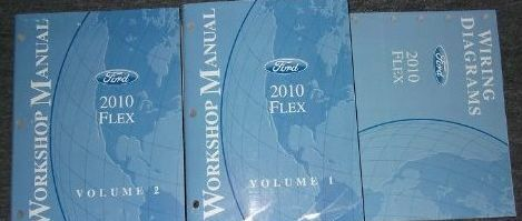 2010 Ford FLEX Service Shop Repair Manual Set W ELECTRICAL DIAGRAMS MANUAL NEW