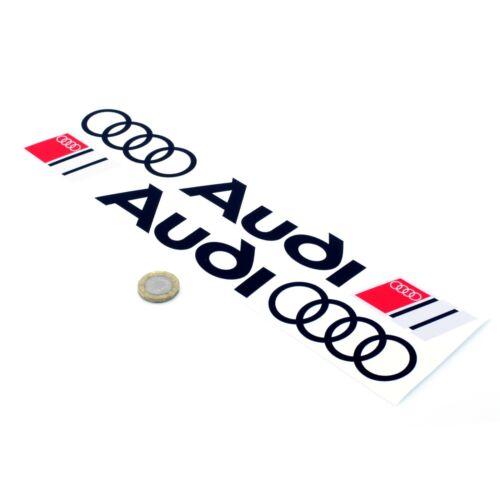 Audi Sport Logo /& Rings Stickers Car Decal Vinyl 300mm x2 Side Skirt Graphics