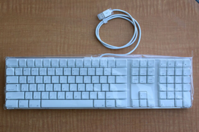 Apple Keyboard White Classic Wired Usb Pro Uk A1048 For Sale Online Ebay