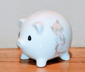 Vintage Precious Moments Month of May Collectible Porcelain Piggy Bank Rare