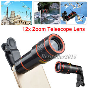 US-Shipping-12X-Zoom-Camera-Phone-Telephoto-Telescope-Lens-Clip-For-Cell-Phones