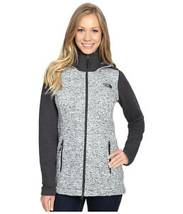 c77bbddfe Details about New Womens North Face Indi Insulated Hoody Jacket Parka Grey  White Black