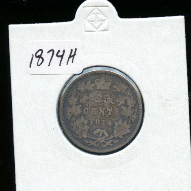 1874 H Canada 25 Cents G AB58