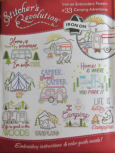 Stitchers Revolution CAMPING ADVENTURES Embroidery Transfer Pattern 33 GLAMPING!