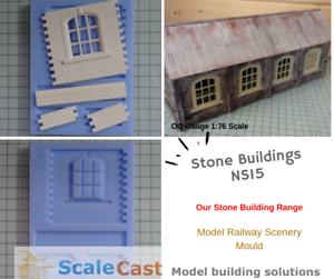 Stone-Buildings-ENGINE-SHED-WINDOW-NS15-Model-Railways-OO-Gauge