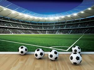 Football Wall Murals football stadium boys room paper wallpaper 368x254cm wall mural