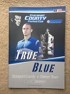 Stockport-County-v-Staines-Town-F-A-Cup-1st-Round-2007-08-Programme