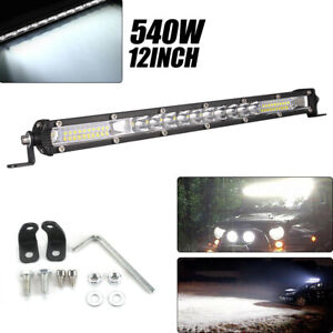 12INCH-540W-Phare-de-Travail-Cree-Barre-LED-Feux-Projecteur-Offroad-4x4-12V-24V