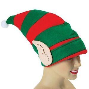 Cappello Elfo Con Pixie Orecchie Natale Christmas Santa Costume Accessori  Regno Unito 034b80ec2b06