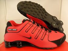 MEN'S NIKE SHOX NZ UNIVERSITY RED-BLACK-SILVER SZ 8 [378341-600]