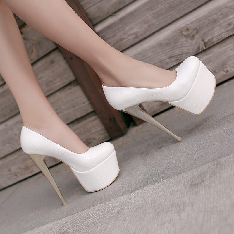 Womens Elegant Platform High Stiletto Heels Pumps Club Party Sexy OL shoes Spring