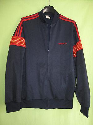 Veste Adidas Marine et rouge Ventex Vintage 80'S Polyester Jacket 180 L | eBay