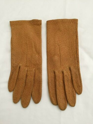 Vintage Ostrich Leather Gloves Size 6 or 7 or Smal