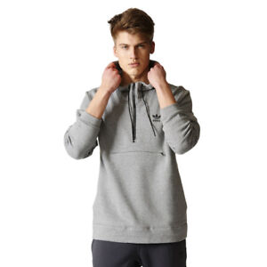 cerca Entrelazamiento dosis  Men's Adidas Originals Shadow Tones Half Zip Hoodie Grey Hooded Sweatshirt  | eBay