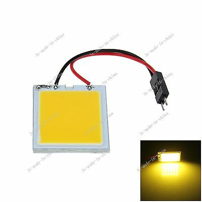 1pcs Yellow 24 Chips COB LED Festoon Dome/Door/Box Light Panel Bulb J304