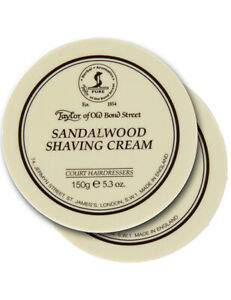 Taylor-Of-Old-Bond-Street-2-Pack-Sandalwood-Mens-Shave-Shaving-Cream-150g-Bowl