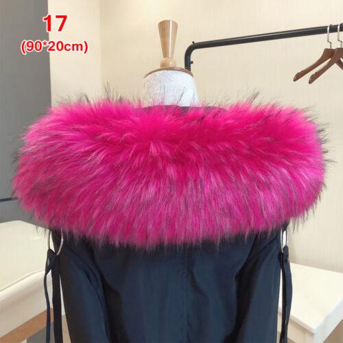 Coat Fur Collar Hooded Jacket Fur Decor  Faux Raccoon Lady Fur Collar