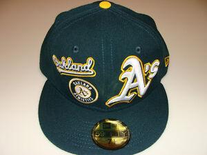 bb1e05fecda New Era Capplique 59Fifty Cap Hat Fitted MLB Baseball Oakland ...