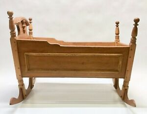 Antique-Wooden-Handmade-Baby-Cradle-Crib